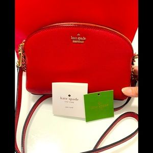❤️ SOLD Kate Spade Red Leather ❤️ Crossbody Bag
